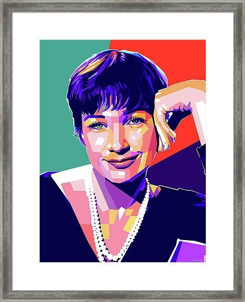 Shirley Maclaine Pop Art Framed Print