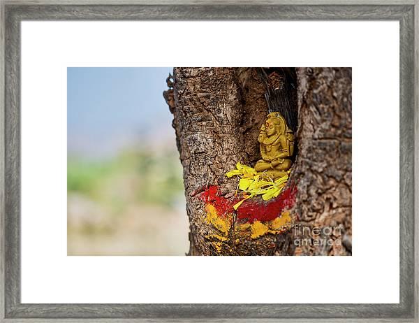 Shiva Shrine Framed Print