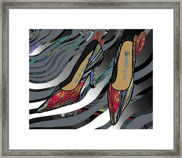 Shoes By Joan - Dragon Fly Wing Pumps Framed Print