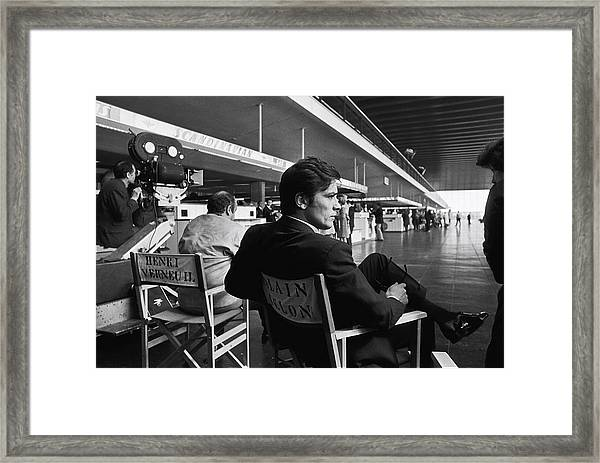 Shooting Of The Film  Le Clan Des Framed Print by Jean-pierre Bonnotte