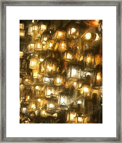 Shopping For Lighting Framed Print