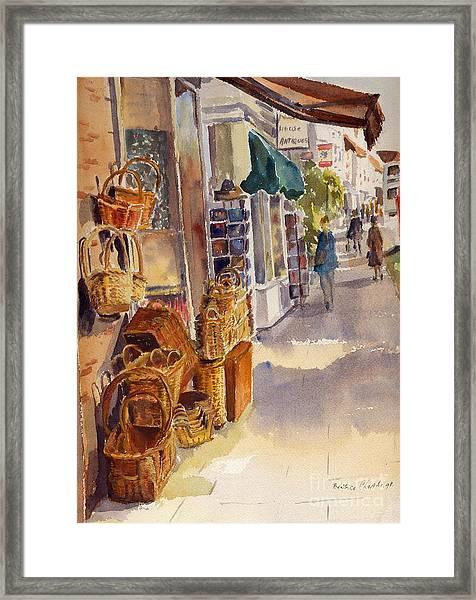 Shopping In Tenterden England Framed Print
