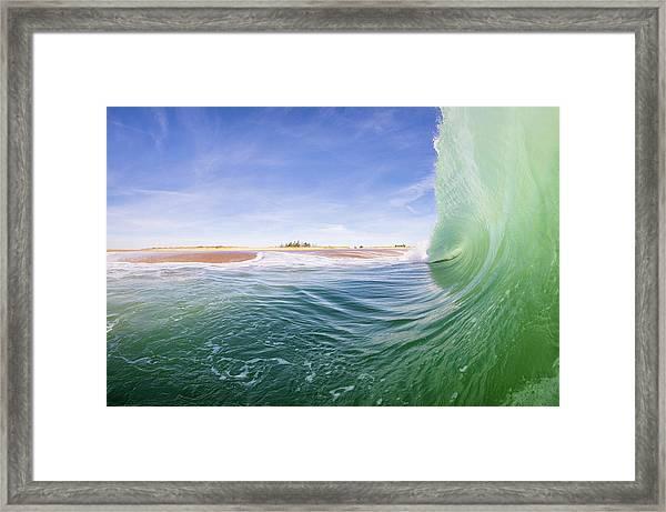 Shorebreak Framed Print