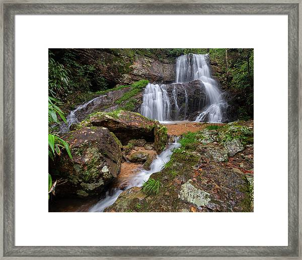Framed Print featuring the photograph Shu Nu Waterfall 8x10 Horizontal by William Dickman