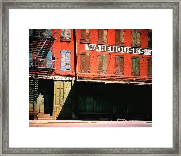 Shuttered Warehouse On The Lower East Framed Print