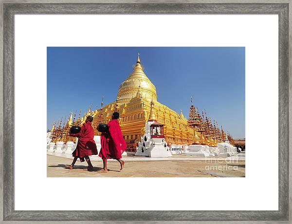 Shwezigon Paya, Bagan, Myanmar Framed Print