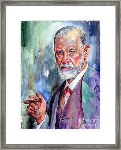Sigmund Freud Portrait II Framed Print