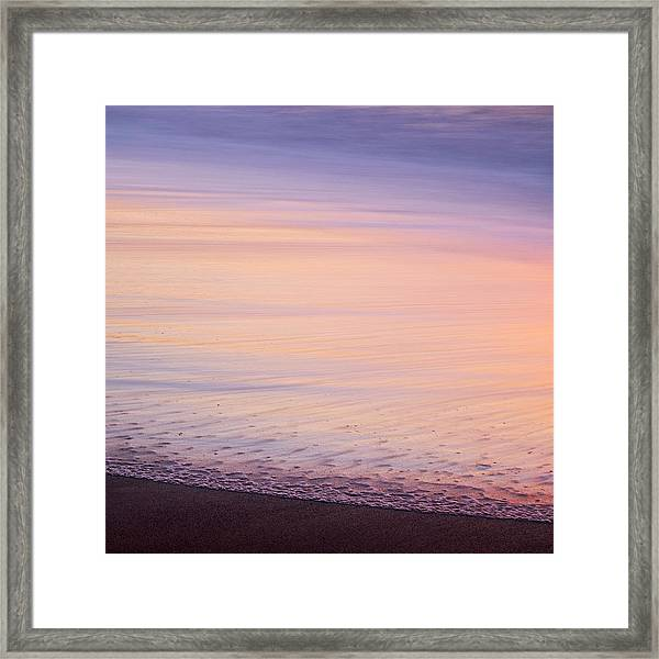 Framed Print featuring the photograph Silky Sea by Whitney Goodey