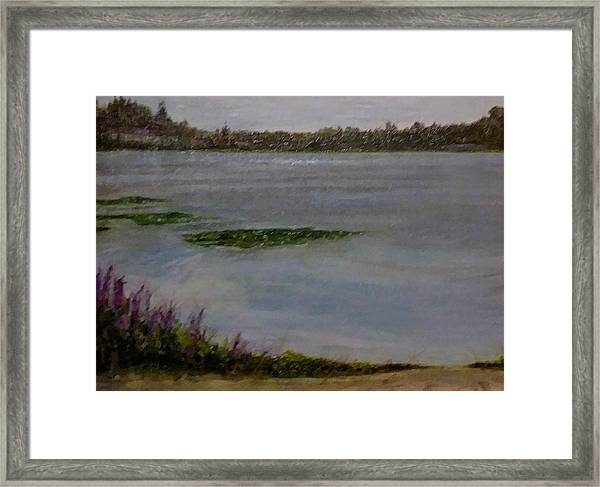 Silver Lake During The Wildfires Framed Print