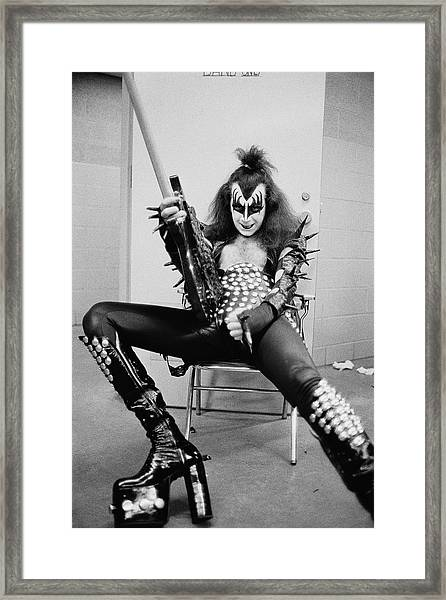 Simmons Backstage Framed Print by Fin Costello