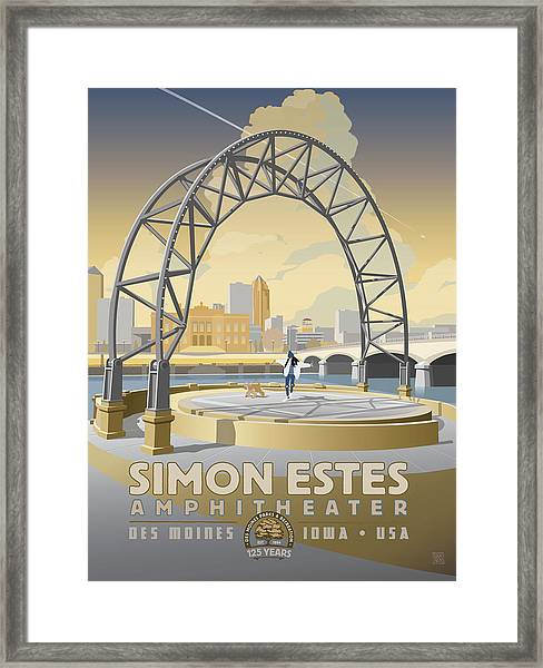 Framed Print featuring the drawing Simon Estes Amphitheater by Clint Hansen