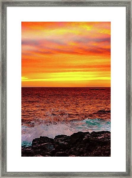 Simple Warm Splash Framed Print