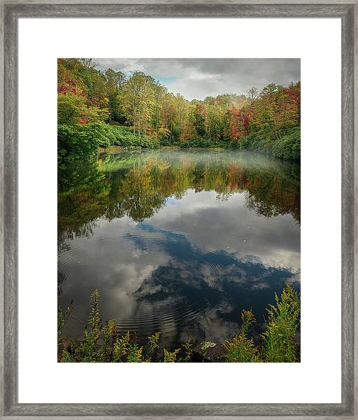 Sims Pond Blowing Rock North Carolina Framed Print