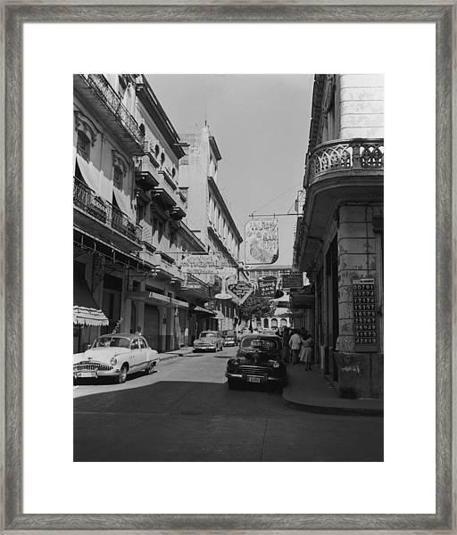 Sin Street Framed Print