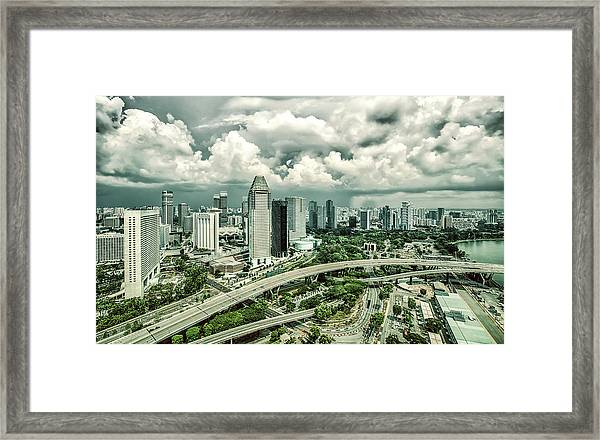 Framed Print featuring the photograph Singapore by Chris Cousins
