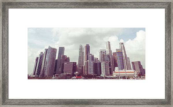Singapore Cityscape The Second Framed Print