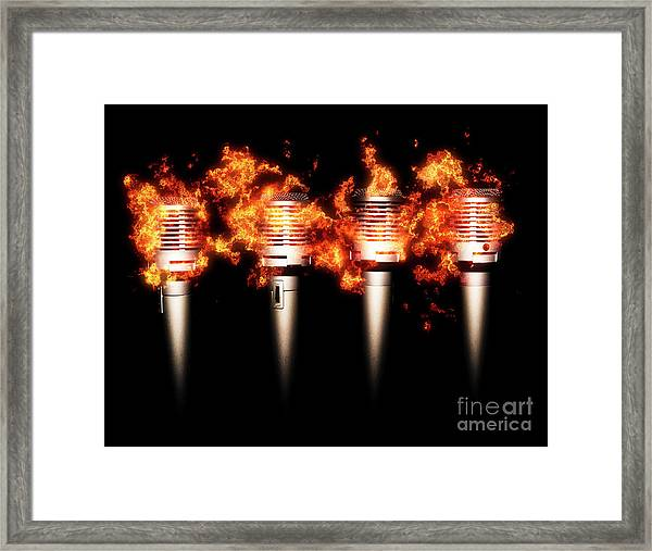 Singeing Stage Show Framed Print