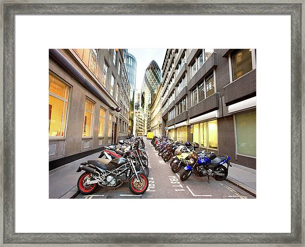 Sir Norman Foster Building Behind Framed Print