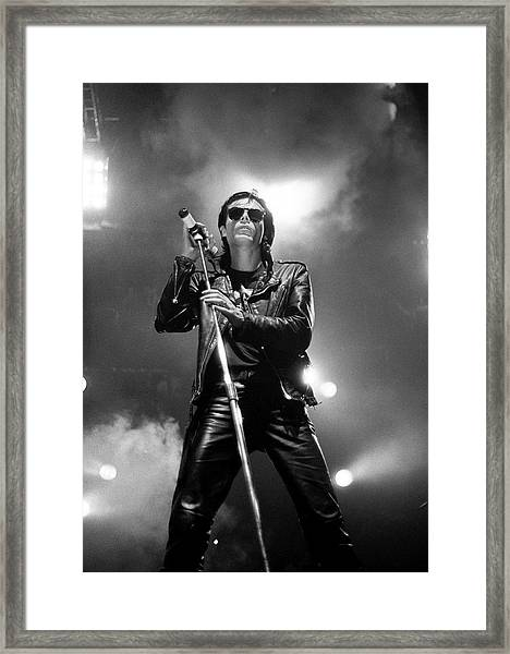 Sisters Of Mercy Playing Live Wembley Framed Print