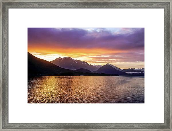 Framed Print featuring the photograph Sitka Sunrise by Dawn Richards