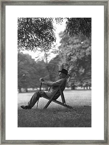 Sitting In The Park Framed Print
