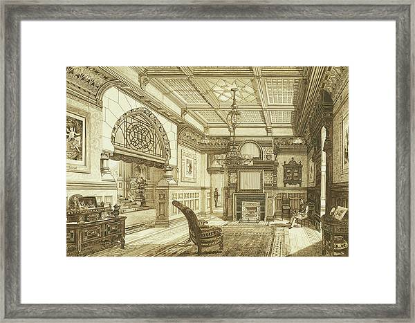 Sitting Room Of Bardwold, Merion Pa Framed Print