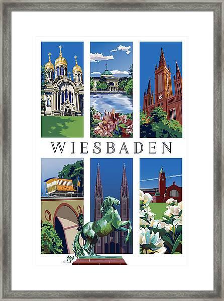 Six Views Of Wiesbaden Framed Print
