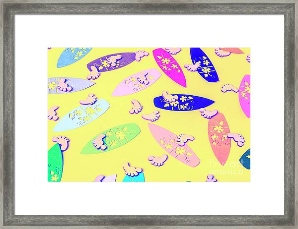 Sixties Surf Framed Print