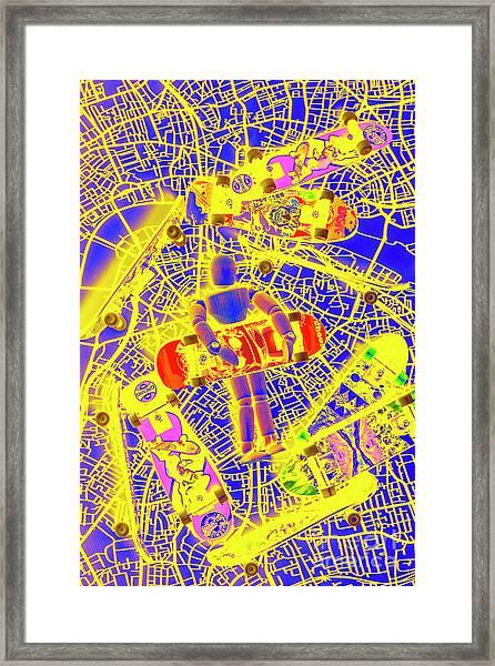 Skate City Framed Print