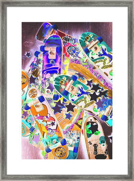 Skating Stars Framed Print