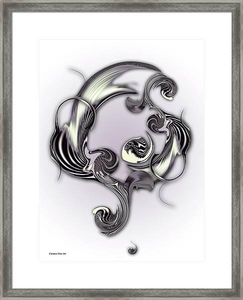 Sketch Of Inverse Poetry Framed Print