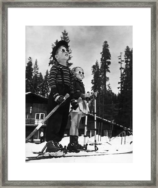 Ski Kids Framed Print