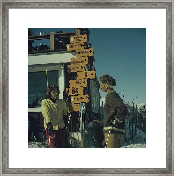 Skiing In Stowe Framed Print