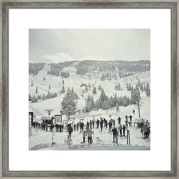 Skiing In Vail Framed Print
