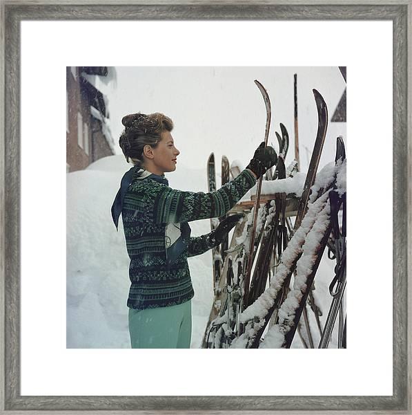 Skiing Princess Framed Print by Slim Aarons