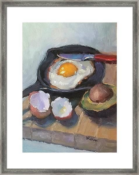 Skillet Breakfast Framed Print