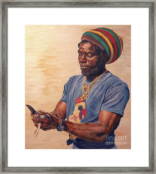 Skinnin' Conch Framed Print