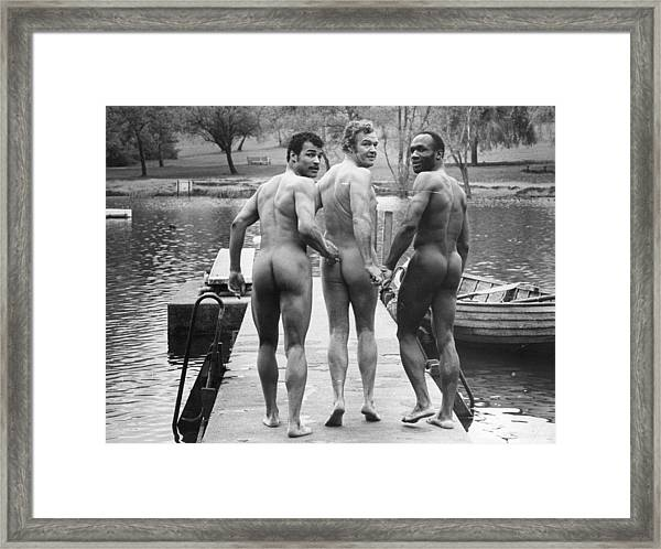 Skinnydippers Framed Print by Evening Standard