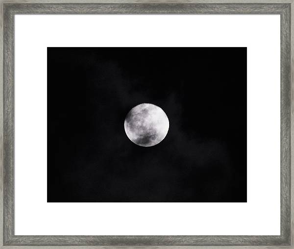 Skull Moon Framed Print