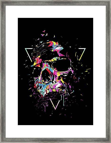 Skull X Framed Print