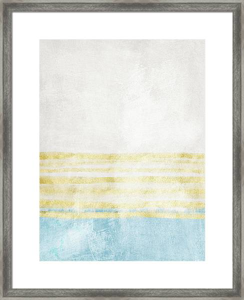 Sky Blue 2- Art By Linda Woods Framed Print