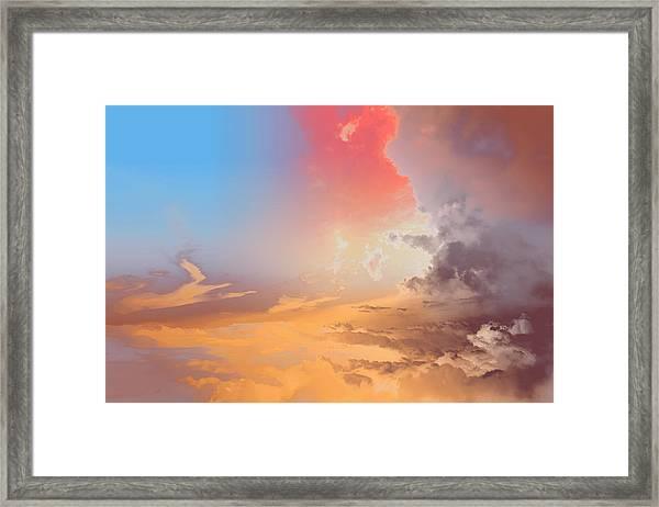 Sky Fight Framed Print
