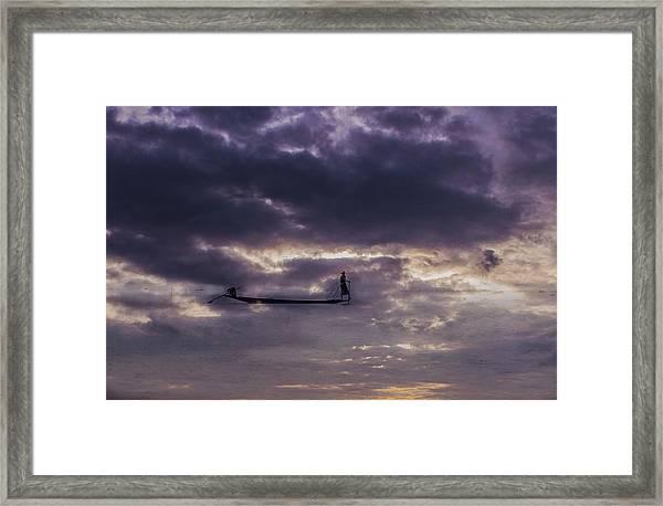 Sky Fisherman Framed Print
