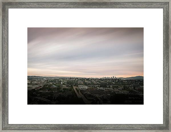 Framed Print featuring the photograph Sky View by Juan Contreras
