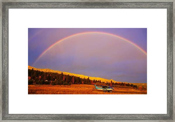 Skylane Rainbow Framed Print