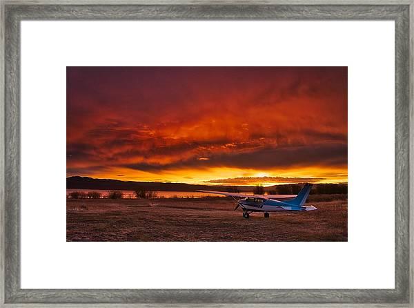 Skylane Sunrise Framed Print