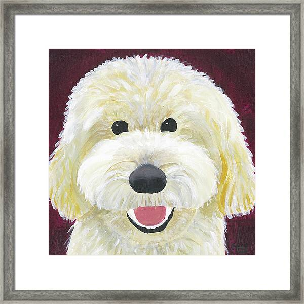 Framed Print featuring the painting Skyler by Suzy Mandel-Canter