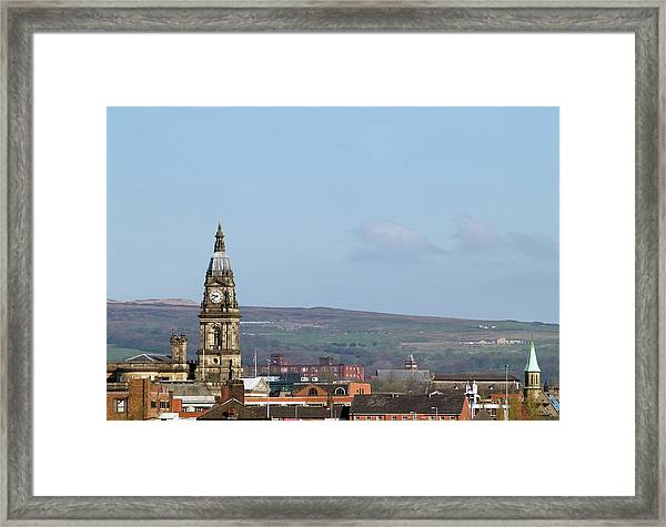 Skyline Of Bolton, Lancashire Framed Print by Joeclemson