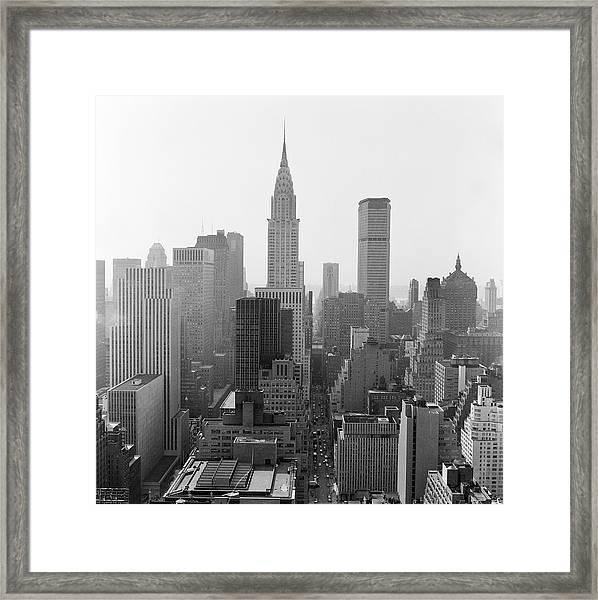 Skyline Of New York City, Empire State Framed Print