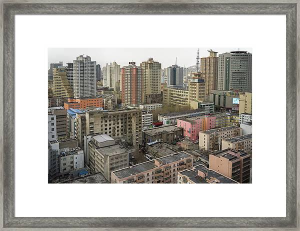Skyline Urumqi Xinjiang China Framed Print
